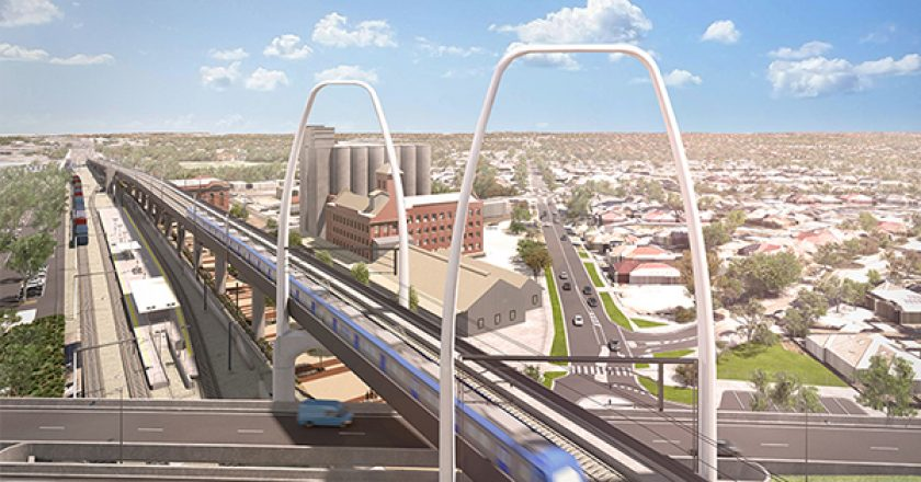 Concept designs for the Melbourne Airport Rail Line project have been released, which showcase the potential for one of the highest bridges in Melbourne.