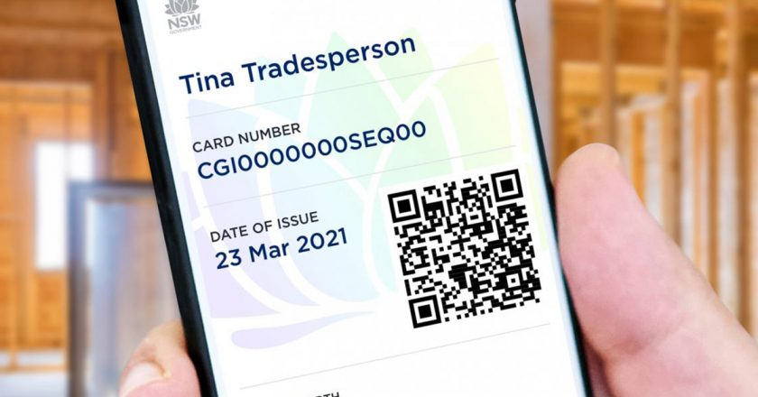 The New South Wales Government has added trade licences to the digital wallet within the Service NSW app, reducing the amount of plastic licence cards tradies need to carry.