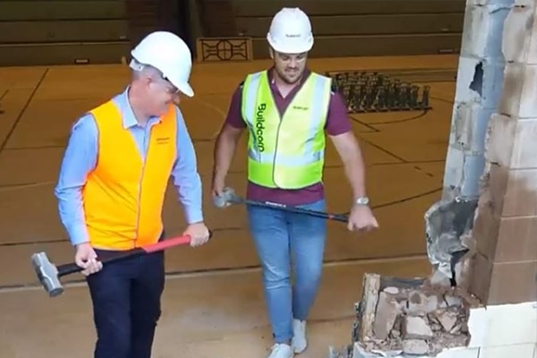 Work has begun on the Queensland Academy of Sport's (QAS) $9.8 million Queensland Sport and Athletics Centre (QSAC) in Nathan.
