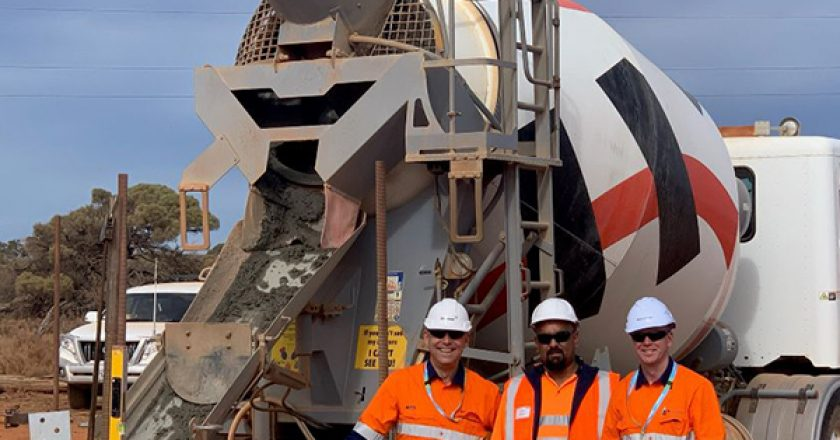 The first concrete foundations have been poured on the Eyre Peninsula Link project for ElectraNet in South Australia.