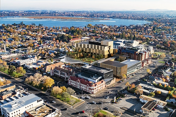 Contractors have been selected for the $541.6 million Ballarat Base Hospital redevelopment.