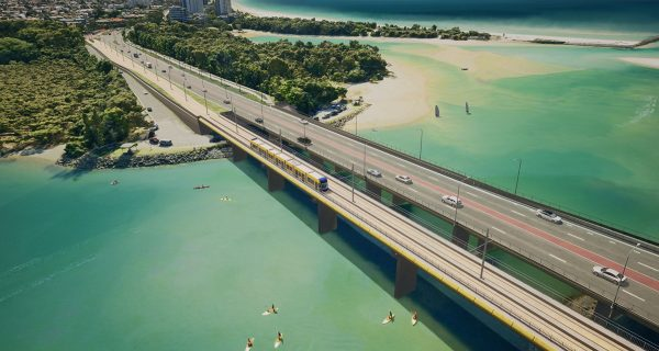 The Queensland Government has revealed potential designs for a future light rail route beyond Burleigh, on the Gold Coast.