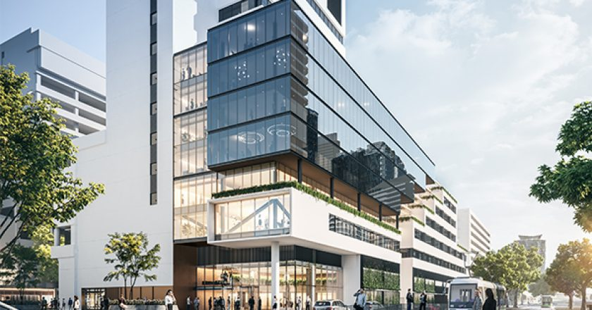Refurbishment works have begun as part of the $80 million 637 Flinders Street redevelopment project, in the Northbank precinct of Melbourne's CBD.