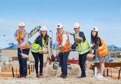 Construction is underway on 17 two-storey homes as part of the Stockland master planned community in Calleya, Perth.