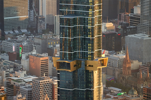Soaring a staggering 319-metres (100-storeys tall), Australia 108 in Melbourne is one of the largest skyscrapers in the southern hemisphere, made possible through a range of new technologies and approaches to its design and delivery.
