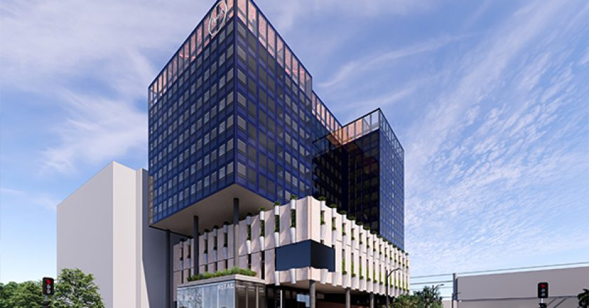 A joint venture between construction firm Hickory and property investment groups Boston Global and Atlas Investment Corporation has lodged a development application for a $130 million gateway hotel tower near Sydney Airport.